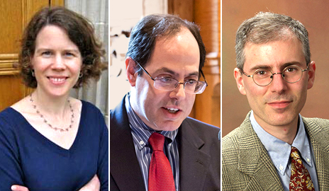 Amy Hungerford, Alan Gerber, and Scott Miller have been named divisional directors of Humanities, Social Sciences, and Sciences, respectively.